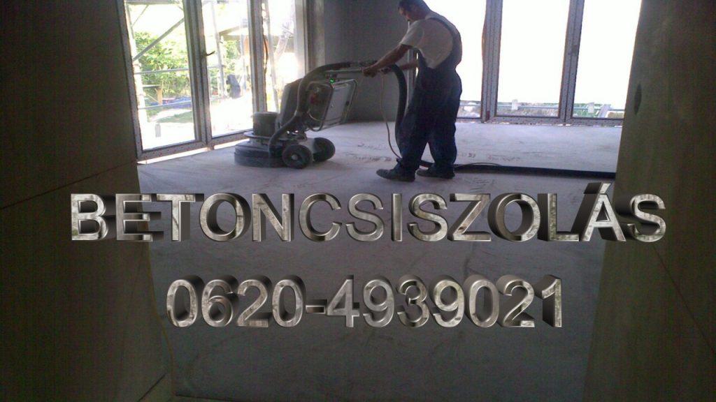 betoncsiszolás